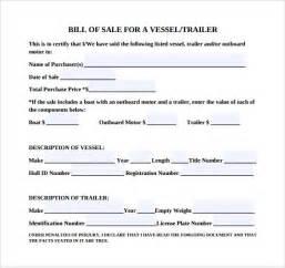 bill template pdf sle boat bill of sale template 7 free documents in