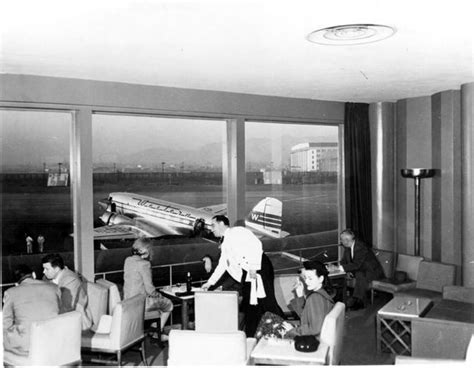 sky room dining sky room restaurant at burbank airport in the 1940s here