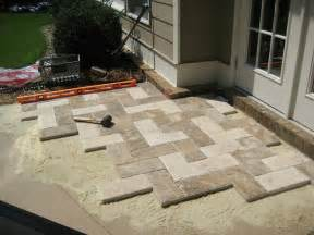 Concrete Pavers For Patio Paver Patio Similar To 8x16 Concrete Pavers In Herringbone Pattern Patios