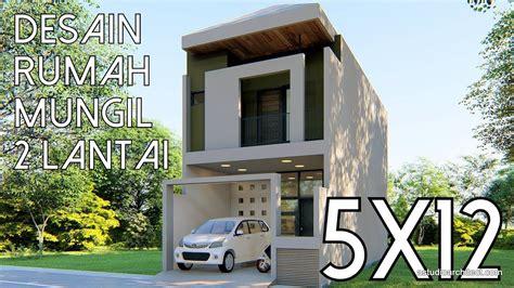 desain rumah probo hindarto desain rumah mungil 2 lantai 5x12m kode 143b youtube