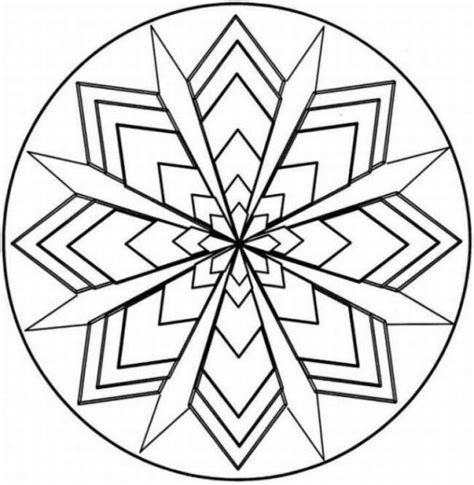 simple geometric pattern coloring pages symmetry coloring design kaleidoscope coloring pages