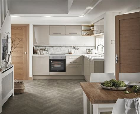 Greenwich Gloss Cashmere Kitchen   Universal Kitchens