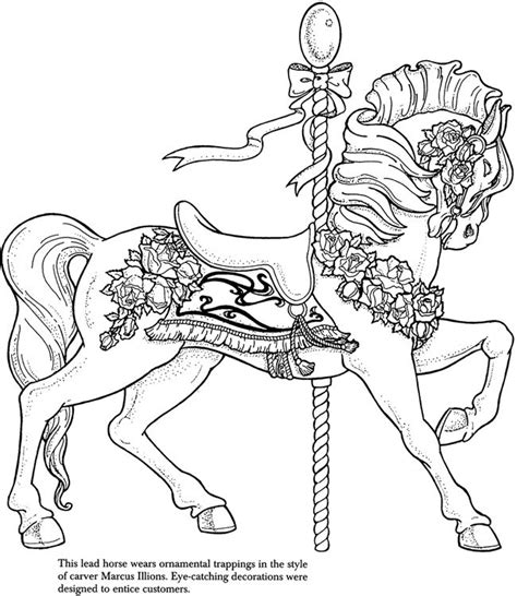 free coloring pages of carousel horses 17 best images about coloring pages advanced carousel