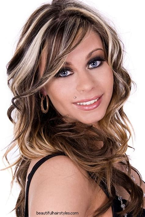dramatic hair highlights hairs picture gallery underneath dark brown and blonde hairstyles red hair