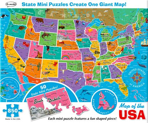 usa map jigsaw level one map of the usa jigsaw puzzle puzzlewarehouse