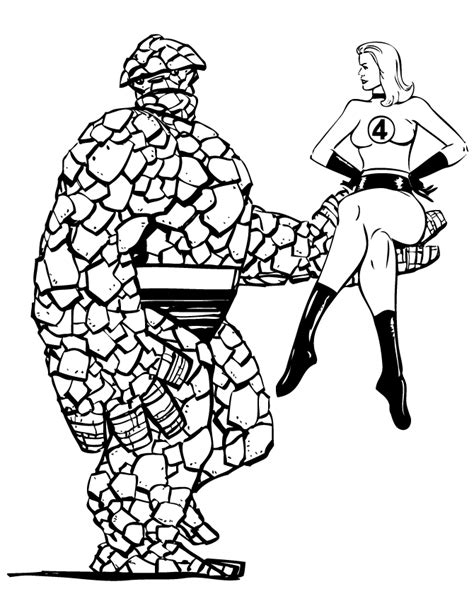 Free Coloring Pages Of Fantastic 4 The Thing Coloring Pages