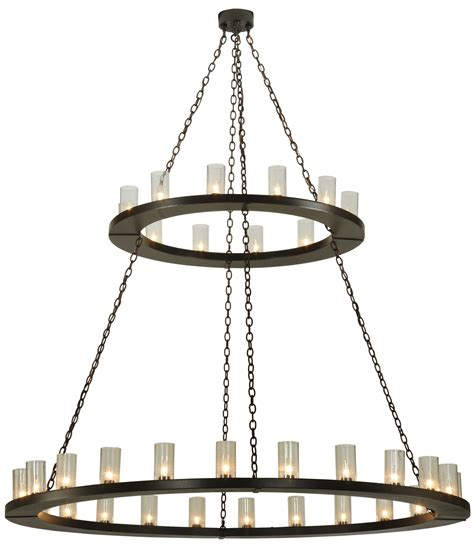 Two Tier Chandelier Meyda 134640 Loxley Two Tier Chandelier