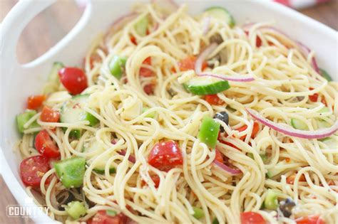 recipes for pasta salad spaghetti salad the country cook