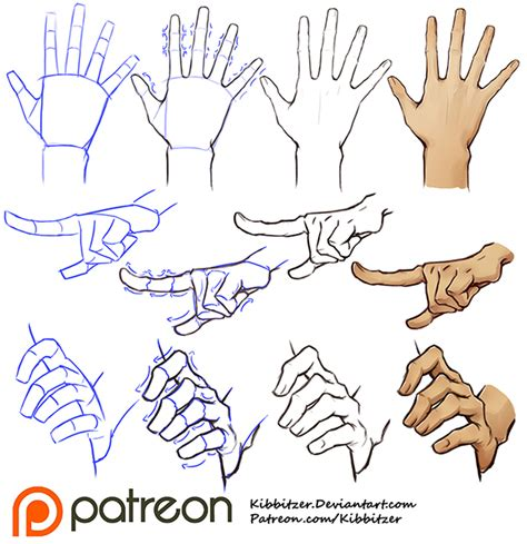how to draw hands 35 tutorials how tos step by steps hands tutorial by kibbitzer on deviantart