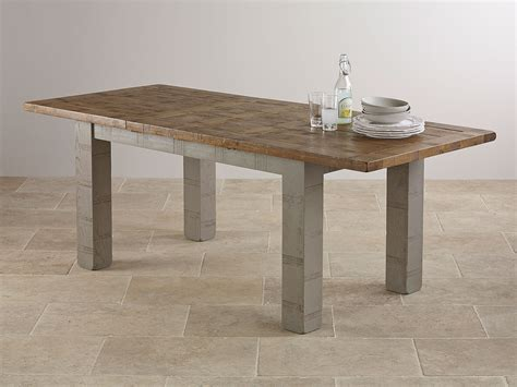 clermont painted sawn solid oak 5x3 extending dining