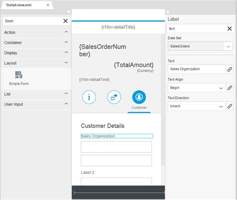 layout editor sap less coding more designing the new sap web ide layout