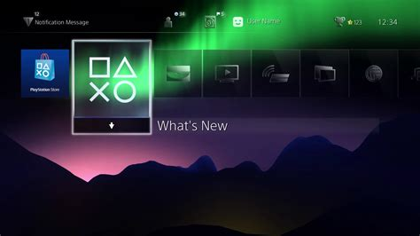 ps4 themes where are they beautiful aurora borealis ps4 dynamic theme teased by