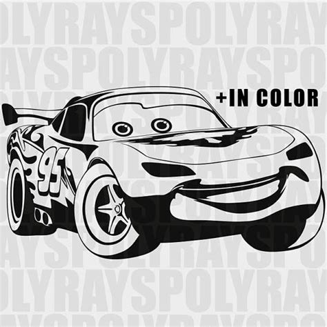 Arts And Crafts Rug Lightning Mcqueen Svg Car Instant Download Disney