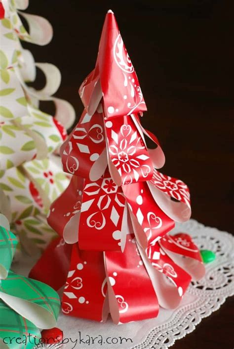 christmas tree out of paper how to make wrapping paper trees