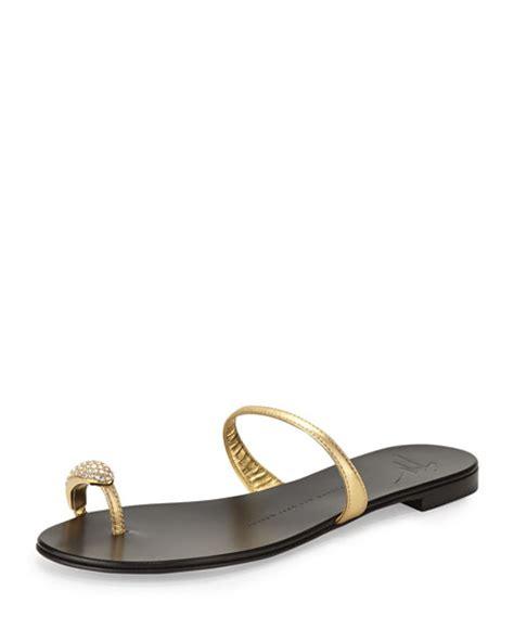 giuseppe zanotti toe ring sandal giuseppe zanotti metallic toe ring sandal gold