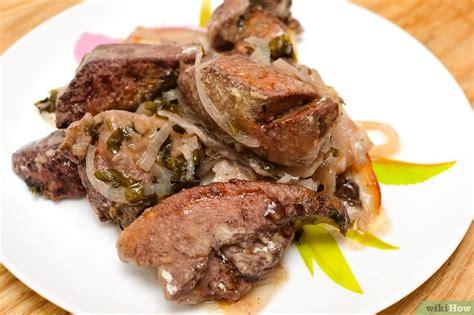 cucinare il fegato di manzo 3 modi per cucinare il fegato wikihow