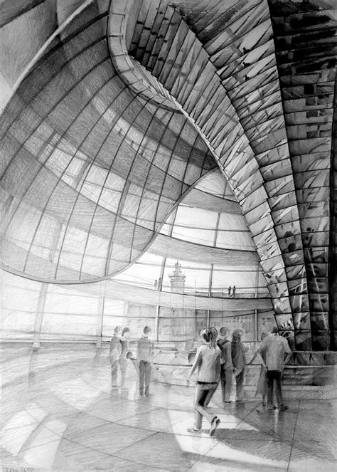 Architect Norman Foster Reichstag Berlin Drawing By