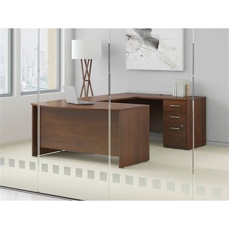 bush bow front desk bush business series c elite 60wx36d bow front desk shell