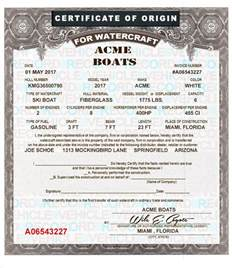certificate of origin for a vehicle template boat mco mso certificate of origin