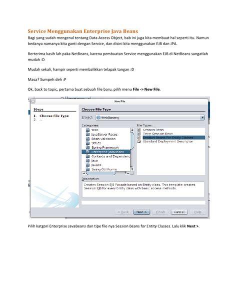 membuat setter dan getter di java membuat aplikasi java web enterprise sederhana