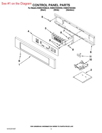 panl cntrl part bl appliance parts  supplies