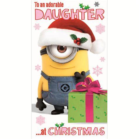 daughter minions christmas card minion shop