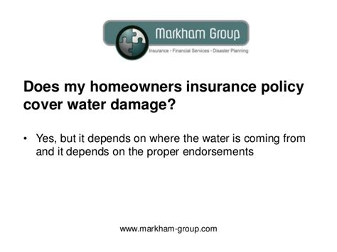 does house insurance cover water damage does my homeowners insurance cover water damage