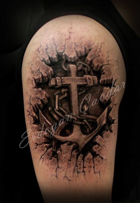 3d cross designs tattoos of crosses