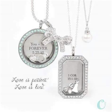 Origami Owl Living Locket Ideas - loving this bridal look carry your memories and stories