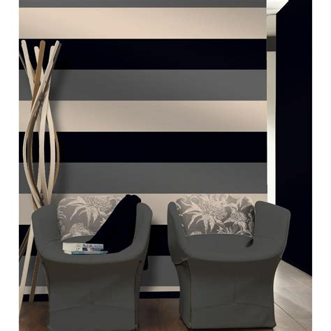 wallpaper direct grey direct stripe 3 colour striped motif textured designer