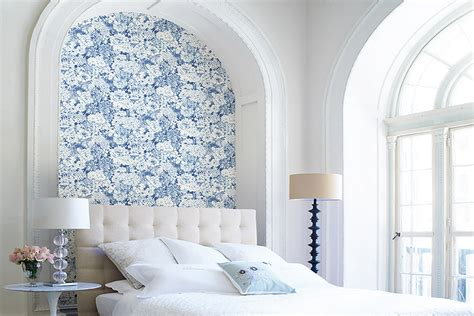 wallpaper for focal wall use wallpaper in small doses for a big wow factor