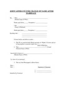 Letter Consent Joint Account for example of joint affidavit for change of name after marriage
