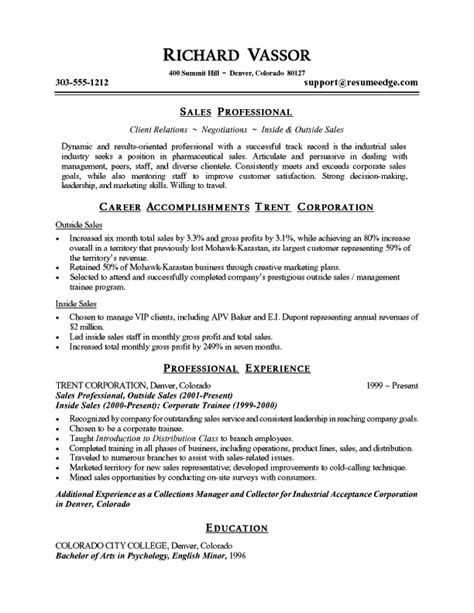 sles of resumes for students pharmaceutical sales resume