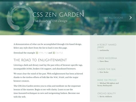 css tutorial zen garden the best of 2013 for designers webdesigner depot