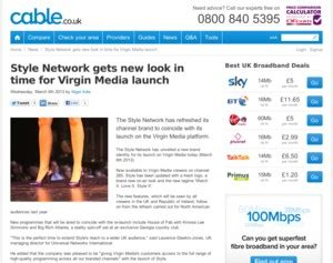 The Style Network Gets by Media Style Network Gets New Look In Time For