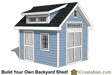10x12 shed plans with dormer icreatables com