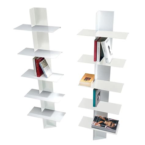 librerie a colonna lift libreria da parete in acciaio a colonna 45 x 160 cm