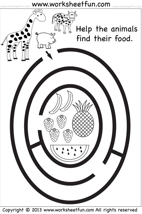 preschool printable maze worksheets beginner mazes preschool and kindergarten 6 worksheets