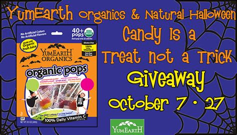 Halloween Giveaways Not Candy - halloween candy that is a treat not a trick yumearth organics candy giveaway kat balog