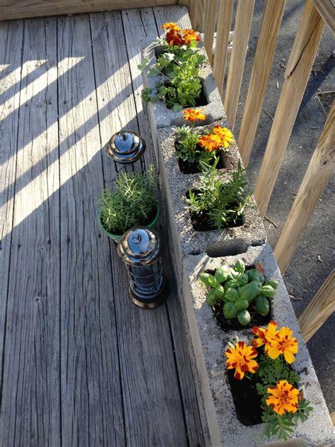 Deck Herb Garden Planter by Our Small Herb Garden On The Deck Gardens