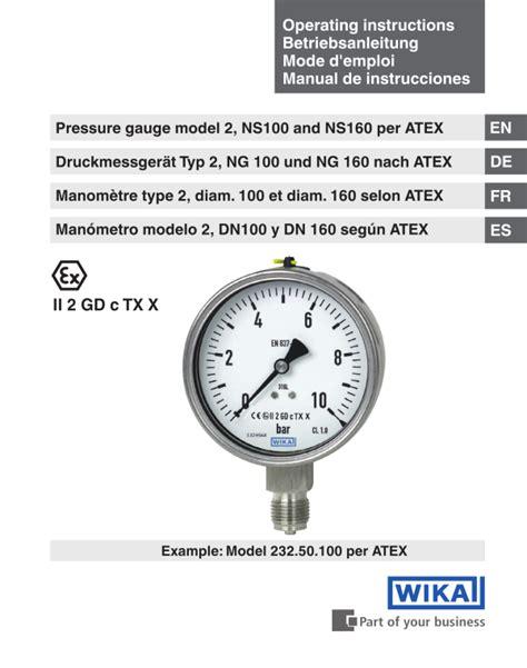 Pressure Wika 232 50 bourdon pressure 232 50 233 50 wika instrument lp