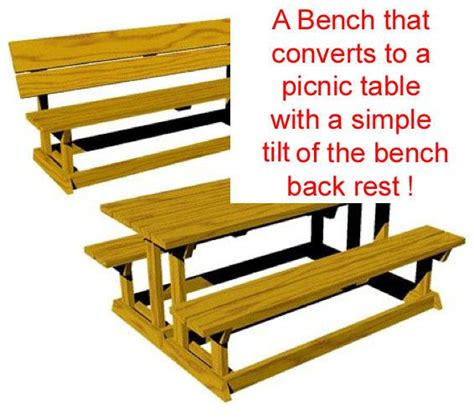 bench turns into picnic table plans bench that turns into a picnic table plans images