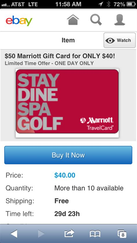 Marriot Gift Cards - 50 marriott gift card for 40 frequent miler