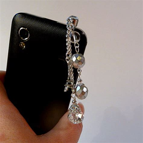 cell phone charm eiffel tower bling iphone android on luulla