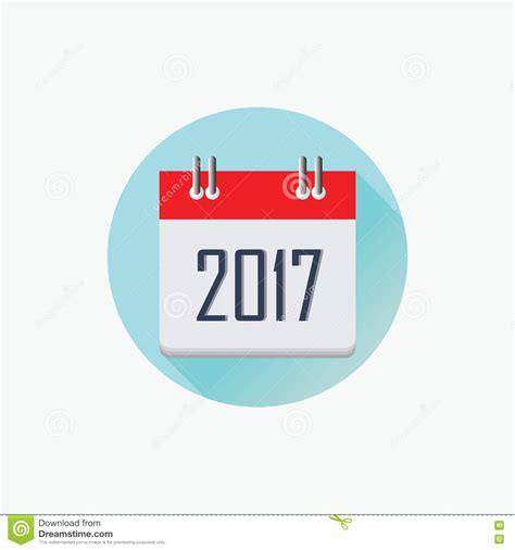happy new year icon 2017 calendar icon happy new year 2017 flat designed