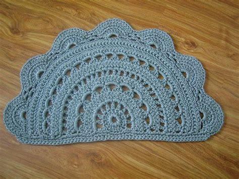 crochet doormat light gray doormat door rug half