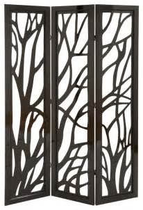 Decorative Partitions by Privacy Divider Screen Tree Branch Pattern Brown Family