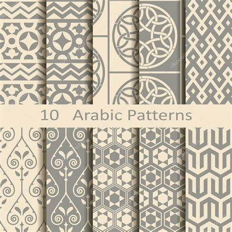 islamic pattern photoshop download set of ten arabic patterns stock vector 169 lenazolot