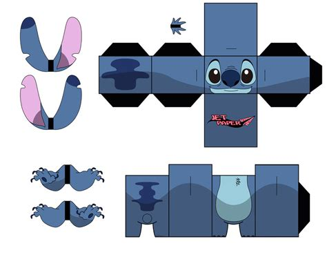 Stitch Papercraft - characters cubee patterns templates on cubeecraft
