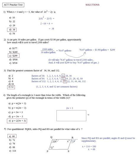 Printable Act Practice Test